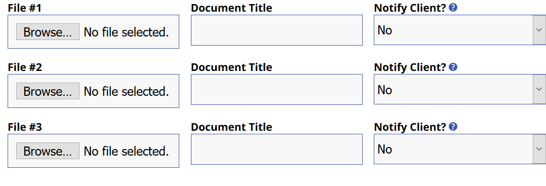 Home screen for attaching a document to an appointment